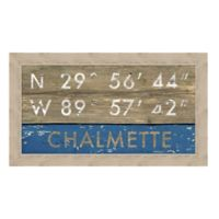 Chalmette Louisiana Coordinates Framed Wall Art