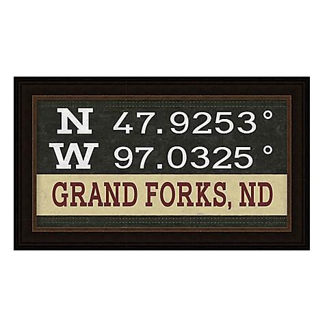Framed Gicl E Grand Forks Nd Coordinates Print Wall Art Bed Bath Beyond