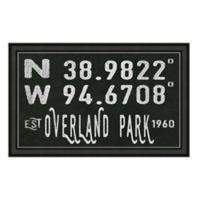 Overland Park Kansas Coordinates Framed Wall Art