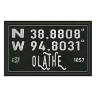 Olathe Kansas Coordinates Framed Wall Art