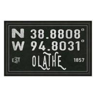 Olathe Kansas Coordinates Framed Wall Art