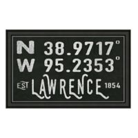 Lawrence Kansas Coordinates Framed Wall Art
