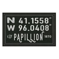 Papillion Nebraska Coordinates Framed Wall Art
