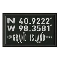 Grand Island Nebraska Coordinates Framed Wall Art