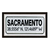 Framed Giclée Sacramento, CA Coordinates Print Wall Art