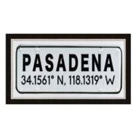 Framed Giclée Pasadena, CA Coordinates Print Wall Art