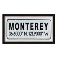 Framed Giclée Monterey, CA Coordinates Print Wall Art