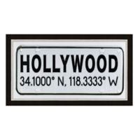 Framed Giclée Hollywood, CA Coordinates Print Wall Art