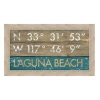 Framed Giclée Laguna Beach, CA Coordinates Print Wall Art