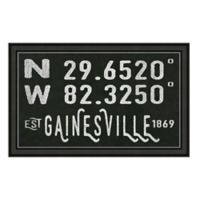 Gainesville, Florida Coordinates Framed Wall Art