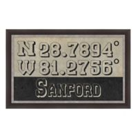 Sanford, Florida Coordinates Framed Wall Art