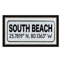 South Beach, Florida Coordinates Framed Wall Art