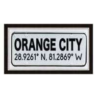 Orange City, Florida Coordinates Framed Wall Art