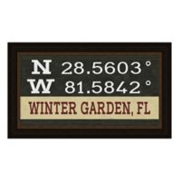 Winter Garden, Florida Coordinates Framed Wall Art