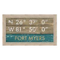 Myers, Florida Coordinates Framed Wall Art
