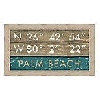 Palm Beach, Florida Coordinates Framed Wall Art