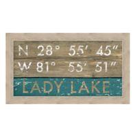 Lady Lake, Florida Coordinates Framed Wall Art