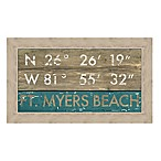 Ft. Myers Florida Coordinates Framed Wall Art