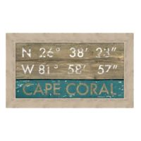 Cape Coral, Florida Coordinates Framed Wall Art