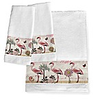 Laural Home® Botanical Flamingo Hand Towels (Set of 2)