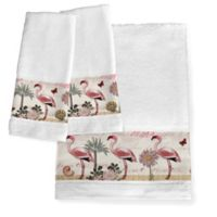 Laural Home® Botanical Flamingo Bath Towel