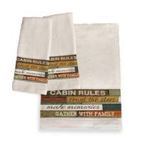 Laural Home® Cabin Rules Bath Towel