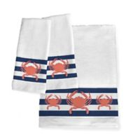 Laural Home® Crab Stripe Hand Towels (Set of 2)