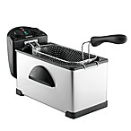 Gourmia® Compact 3-Quart Electric Deep Fryer with Dual Temperature & Timer Dials