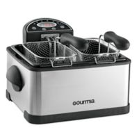 Gourmia® Tri-Basket 4.2 qt. Deep Fryer with Digital Display