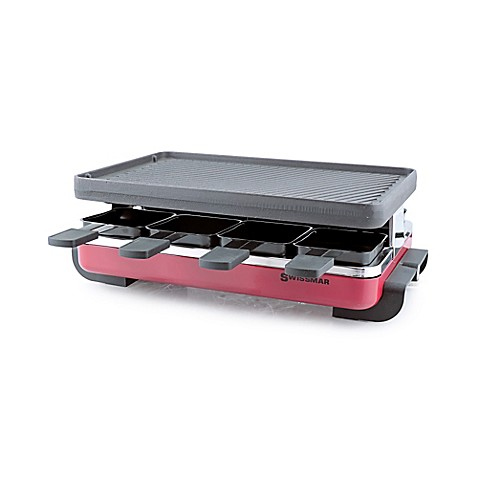 swissmar classic raclette grill with cast iron plate in red bed bath beyond. Black Bedroom Furniture Sets. Home Design Ideas