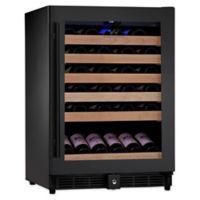 KingsBottle 50-Bottle Single Zone Wine Fridge in Black