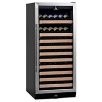 KingsBottle 100-Bottle Single Zone Wine Cooler in Stainless Steel