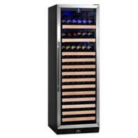 KingsBottle 170-Bottle Single Zone Wine Cooler in Stainless Steel