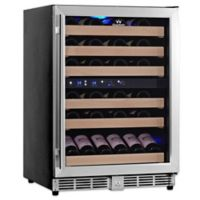 KingsBottle 50-Bottle Dual Zone Wine Cooler in Stainless Steel