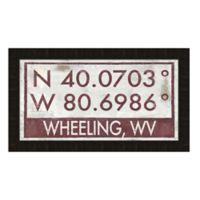 Framed Giclée Wheeling, WV Coordinates Print Wall Art