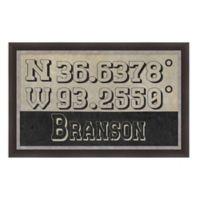 Branson Missouri Coordinates Framed Wall Art