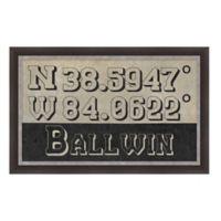 Ballwin Missouri Coordinates Framed Wall Art