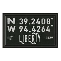 Liberty Missouri Coordinates Framed Wall Art