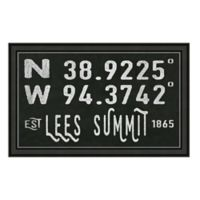 Lees Summit Missouri Coordinates Framed Wall Art