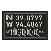 Independence Missouri Coordinates Framed Wall Art