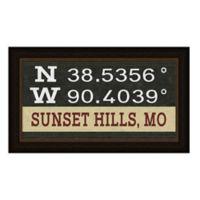 Sunset Hills Missouri Coordinates Framed Wall Art
