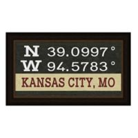 Kansas City Missouri Coordinates Framed Wall Art