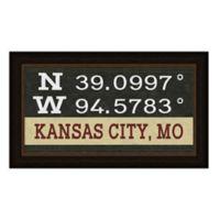 Kansas City Missouri Coordinates Framed Wall Art