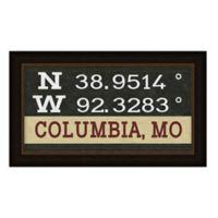 Columbia Missouri Coordinates Framed Wall Art