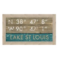 Lake St. Louis Missouri Coordinates Framed Wall Art