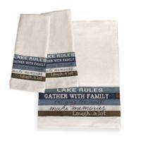 Laural Home® Lake Rules Bath Towel