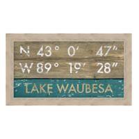 Framed Giclée Lake Waubesa, WI Coordinates Print Wall Art