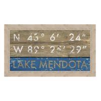 Framed Giclée Lake Mendota, WI Coordinates Print Wall Art