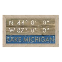 Framed Giclée Lake Michigan, WI Coordinates Print Wall Art