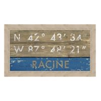 Framed Giclée Racine, WI Coordinates Print Wall Art